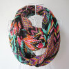 Lady Fashion Geometry Printed Polyester Chiffon Spring Infinity Scarf (YKY1093)
