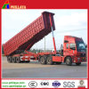 Tri-Axle 35m3 End Dump Semi Trailer with Square Box