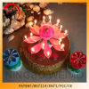 Hot Selling Rotating Musical Flower Birthday Candle Cake Decoration