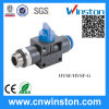Plastic Check Valve Push-in Pneumatic Fittings with CE