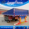 3 Axles Side Wall Open Cargo Transport Semi Truck Trailer