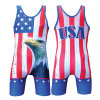 USA Flag Sublimated Wrestling Gear Wrestling Wear in Good Quality