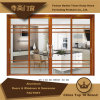 Living Room Aluminum Door with Lattice Bar Clear Glass Deocoration