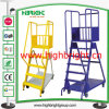 Movable Steel Warehouse Step Ladder Cart