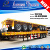 40feet 3axle High Flatbed Container Semi Trailer for Sale