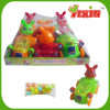 Pull Line Rabbit Car with Light Toy Candy