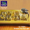 76 New Style Glass Teacup Gift with Infuser (L6-C660)