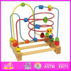 2015 Midium Size Beads Rack Neocube Bead Magnetic Toys, Wooden Toy String Bead Toy for Kids, High Quality Wooden Beads Toy W11b039