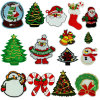 christmas Gift Colorful Tree Snowman Embroidery Badge Embroidery Patches for Jacket Sweater (YB-pH-56)