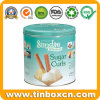 Round Tin Can Metal Storage Tin Box for Sugar Curls