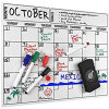 Magnet Board Calendar Dry Erase Fridge Magnet