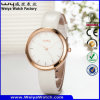 Fashion Casual Factory Leather Strap Woman Wrist Watch (Wy-059D)