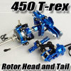 CNC Rotor Head and Tail Part for 450 RC Helicopter