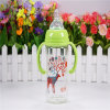 240ml Crystal Diamond Baby Glass Bottle with Handle
