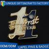 Custom Letter Shape Hard Enamel Lapel Pin with Butterfly Fitting