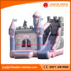 PVC Tarpaulin Inflatable Slide Pink Princess Bouncy Combo Castle (T3-117)