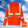 OEM Orange Hi Vis Reflective Mining Welder Uniforms, Reflective Cleaning Working Uniforms