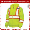 Men Yelllow High Vis Safety Workwear Reflective Fleece Jacket (ELTSJI-27)