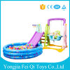New Plastic Indoor Kids Toys Slide, Swing, Basketball Stand with Inflatable Ball Pool Water Pool ...