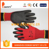 Ddsafety 2017 Nylon Polyester Liner Glove PU Coated on Palm and Fingers