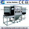 Double Work Position Manual Roller Conveyer Sandblasting Machine