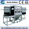 Double Work Position Manual Roller Conveyer Sandblasting Machine