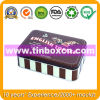 Rectangular Chocolate Biscuit Tin for Food Can Packaging