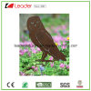 Metal Decorative Owl Stake with Rusty Color for Garden and Pot Decoration