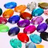 Wholesale Oval Sew-on Flat Back Acrylic Rhinestones Acrylic Bead (SW-Oval 10*14mm in colors)