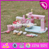 New Products Children Pretend Play Wooden Toy Set Make a Cake W10d013
