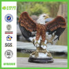 Standing Wing Falcon Resin Stand Round for Desktop Decoration (NF86086)