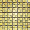 Yellow Gold Metal Plated Glass Wall Tile