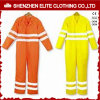 Fluorescent Yellow Orange Cotton Safety Reflective Coverall (ELTHVCI-15)