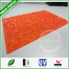 China Polycarbonate Suppliers Orange Lexan PC Diamond Embossed Board