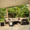 Chinese PE Outdoor Sofa Rattan/ Wicker Sofa (S338)