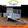 Galvanized Garden 7X4 Winch Tipper Box Trailer with Alloy Ramp & Mesh Cage