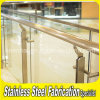 Indoor Stainless Steel Stair Railing Tempered Glass Balustrade