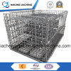 Warehouse Folding Galvernized Steel Wire Mesh Container with High Quality