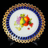 Porcelain Hollow Fruit Plates Souvenir Ceramic Decorative Plates