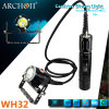 Aluminum Magnetic Rechargeable CREE Xml U2 LED Scuba Diving Flashlight