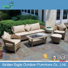 Garden Rattan Sofa Set with Soft Cushion
