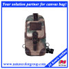 Mens Retro Camo Canvas Chest Bag for Shopping and Student