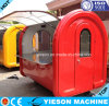 Fiberglass Push Trolley Food Cart Commercial Hot Dog Cart