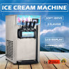 3 Flavors Soft Ice Cream Maker