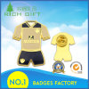 Factory Directly Sale Sports Wear Shape Metal Badge