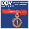 Pneumatic Single Acting Hard Seat Flanged Butterfly Valve