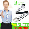 Wholesale Black Custom Polyester Lanyard with Heat Transfer Printing