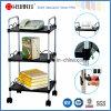 Adjustable Powder Coating Metal Steel Board Book Trolley