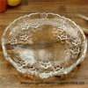 European Household Compote Lead-Free Transparent Glass Kitchen Decoration Fashion Flat Dry Dessert Plum Compote Glass Plate