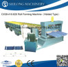 CE Approved Corrugated Color Steel Step Roof Tile Wall Panel Roll Forming Machine